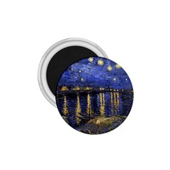Vincent Van Gogh Starry Night Over The Rhone 1 75  Button Magnet by MasterpiecesOfArt
