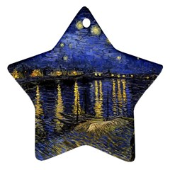 Vincent Van Gogh Starry Night Over The Rhone Star Ornament by MasterpiecesOfArt