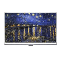 Vincent Van Gogh Starry Night Over The Rhone Business Card Holder by MasterpiecesOfArt