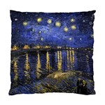 Vincent Van Gogh Starry Night Over The Rhone Cushion Case (Two Sided)  Back