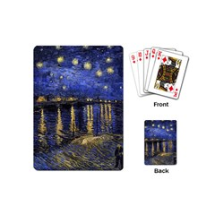 Vincent Van Gogh Starry Night Over The Rhone Playing Cards (mini) by MasterpiecesOfArt