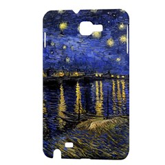 Vincent Van Gogh Starry Night Over The Rhone Samsung Galaxy Note 1 Hardshell Case by MasterpiecesOfArt
