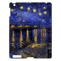 Vincent Van Gogh Starry Night Over The Rhone Apple Ipad 3/4 Hardshell Case by MasterpiecesOfArt