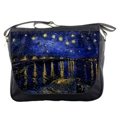 Vincent Van Gogh Starry Night Over The Rhone Messenger Bag