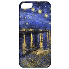 Vincent Van Gogh Starry Night Over The Rhone Apple Iphone 5 Classic Hardshell Case by MasterpiecesOfArt