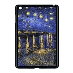 Vincent Van Gogh Starry Night Over The Rhone Apple Ipad Mini Case (black) by MasterpiecesOfArt