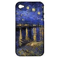 Vincent Van Gogh Starry Night Over The Rhone Apple Iphone 4/4s Hardshell Case (pc+silicone) by MasterpiecesOfArt