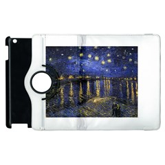 Vincent Van Gogh Starry Night Over The Rhone Apple Ipad 2 Flip 360 Case by MasterpiecesOfArt