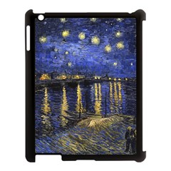 Vincent Van Gogh Starry Night Over The Rhone Apple Ipad 3/4 Case (black) by MasterpiecesOfArt