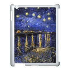 Vincent Van Gogh Starry Night Over The Rhone Apple Ipad 3/4 Case (white) by MasterpiecesOfArt