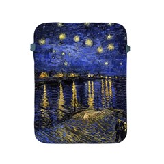 Vincent Van Gogh Starry Night Over The Rhone Apple Ipad Protective Sleeve by MasterpiecesOfArt