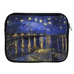 Vincent Van Gogh Starry Night Over The Rhone Apple Ipad Zippered Sleeve by MasterpiecesOfArt