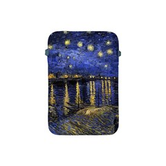 Vincent Van Gogh Starry Night Over The Rhone Apple Ipad Mini Protective Sleeve by MasterpiecesOfArt