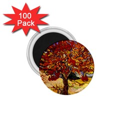 Vincent Van Gogh Mulberry Tree 1 75  Button Magnet (100 Pack) by MasterpiecesOfArt