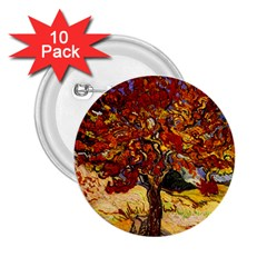 Vincent Van Gogh Mulberry Tree 2 25  Button (10 Pack) by MasterpiecesOfArt