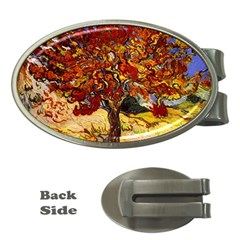 Vincent Van Gogh Mulberry Tree Money Clip (oval) by MasterpiecesOfArt