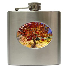 Vincent Van Gogh Mulberry Tree Hip Flask by MasterpiecesOfArt