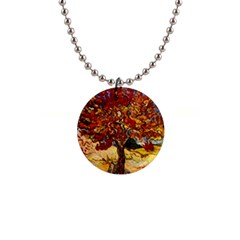 Vincent Van Gogh Mulberry Tree Button Necklace by MasterpiecesOfArt