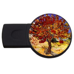 Vincent Van Gogh Mulberry Tree 4gb Usb Flash Drive (round) by MasterpiecesOfArt