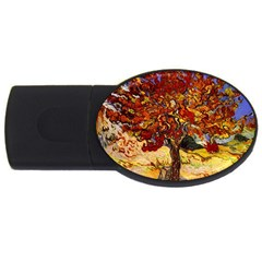 Vincent Van Gogh Mulberry Tree 4gb Usb Flash Drive (oval) by MasterpiecesOfArt
