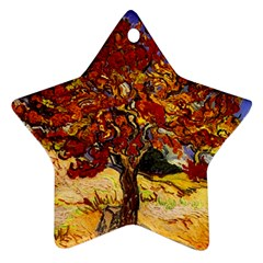 Vincent Van Gogh Mulberry Tree Star Ornament (two Sides) by MasterpiecesOfArt