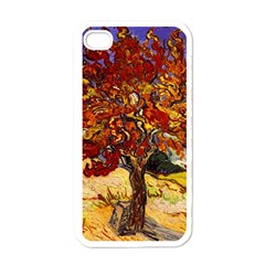 Vincent Van Gogh Mulberry Tree Apple Iphone 4 Case (white) by MasterpiecesOfArt