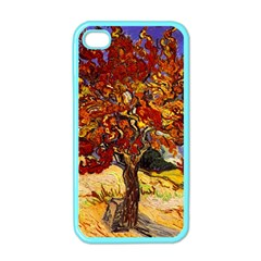 Vincent Van Gogh Mulberry Tree Apple Iphone 4 Case (color) by MasterpiecesOfArt