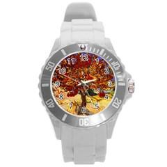 Vincent Van Gogh Mulberry Tree Plastic Sport Watch (large) by MasterpiecesOfArt