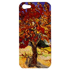 Vincent Van Gogh Mulberry Tree Apple Iphone 5 Hardshell Case by MasterpiecesOfArt