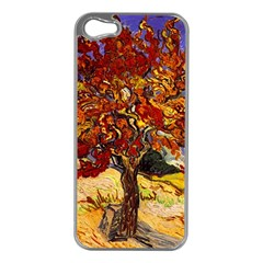 Vincent Van Gogh Mulberry Tree Apple Iphone 5 Case (silver) by MasterpiecesOfArt