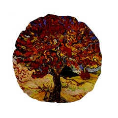 Vincent Van Gogh Mulberry Tree 15  Premium Round Cushion  by MasterpiecesOfArt