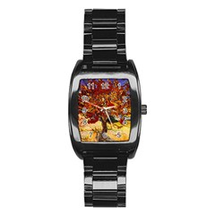 Vincent Van Gogh Mulberry Tree Stainless Steel Barrel Watch by MasterpiecesOfArt