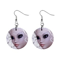 Fairy Elfin Elf Nymph Faerie Mini Button Earrings