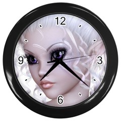 Fairy Elfin Elf Nymph Faerie Wall Clock (black) by goldenjackal
