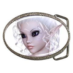 Fairy Elfin Elf Nymph Faerie Belt Buckle (oval) by goldenjackal