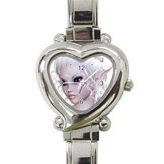 Fairy Elfin Elf Nymph Faerie Heart Italian Charm Watch  by goldenjackal