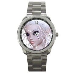 Fairy Elfin Elf Nymph Faerie Sport Metal Watch by goldenjackal