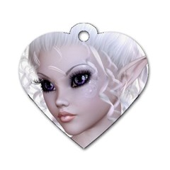 Fairy Elfin Elf Nymph Faerie Dog Tag Heart (one Sided)  by goldenjackal
