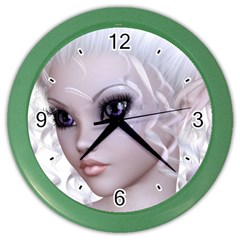 Fairy Elfin Elf Nymph Faerie Wall Clock (color) by goldenjackal