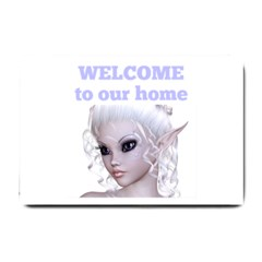 Fairy Elfin Elf Nymph Faerie  Small Door Mat by goldenjackal