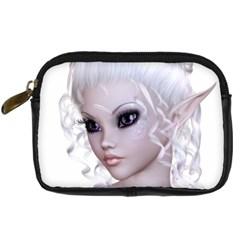 Fairy Elfin Elf Nymph Faerie Digital Camera Leather Case by goldenjackal