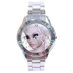 Fairy Elfin Elf Nymph Faerie Stainless Steel Watch by goldenjackal