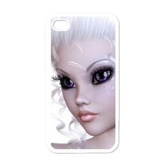 Faerie Nymph Fairy Apple Iphone 4 Case (white) by goldenjackal