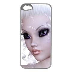 Fairy Elfin Elf Nymph Faerie Apple Iphone 5 Case (silver) by goldenjackal