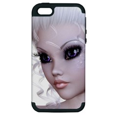 Faerie Nymph Fairy Apple Iphone 5 Hardshell Case (pc+silicone) by goldenjackal