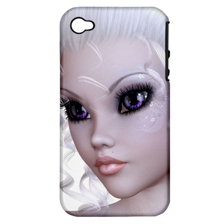 Faerie Nymph Fairy Apple iPhone 4/4S Hardshell Case (PC+Silicone)