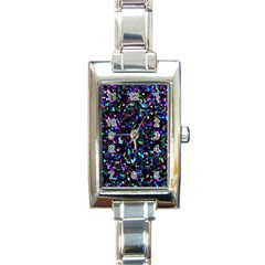 Glitter 1 Rectangular Italian Charm Watch