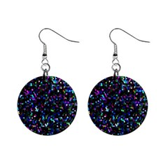 Glitter 1 Mini Button Earrings by MedusArt