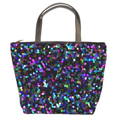 Glitter 1 Bucket Handbag by MedusArt