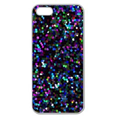 Glitter 1 Apple Seamless Iphone 5 Case (clear) by MedusArt